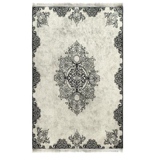 Caimas 2821 Wasbaar tapijt Vintage in zwart beige 160x230