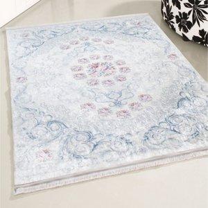 Caimas Caimas 2880 Wasbaar tapijt blauw bloemen 160x230