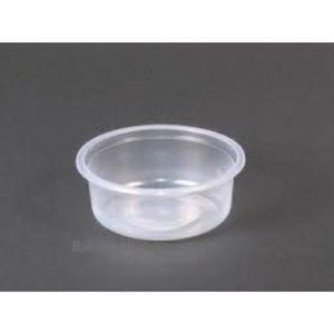 Saladboxx,Bak, PP, 250ml, Ø101mm, rippelcup, transparant,rond