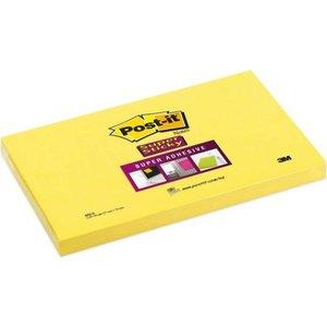 Super Sticky Zelfklevende notes Geel 76 x 127 mm Super sticky 100 Vel