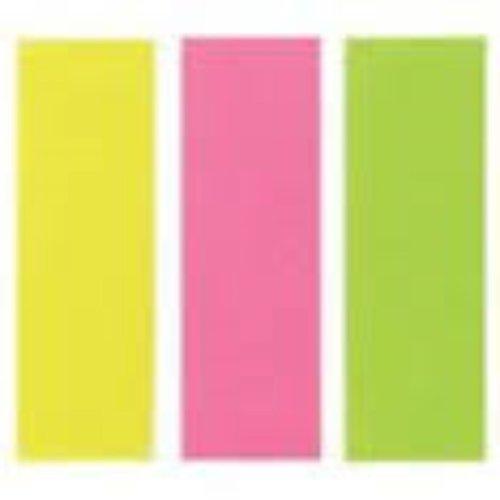 Index Assortiment 3 neonkleuren 25,0 x 76,0 mm 3 x 100 Vel