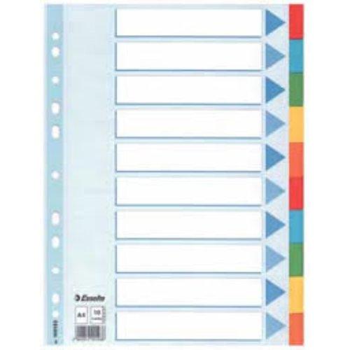 Tabbladen 5-tabs (A4 gemengde kleuren)