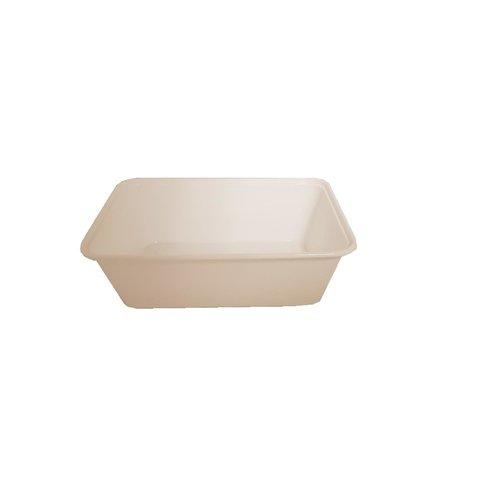 Onbekend Bak, Deksel, PP, 750ml, 172x120x50mm, wit 100st