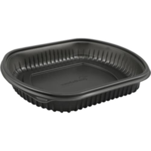 KLNC Bak,PP,1-vaks, menubak, 227x200x40mm, maaltijdtray zwart KLNC 50st
