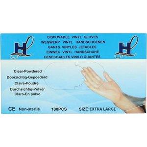 HL Agenturen HL Agenturen Vinyl Wegwerp Handschoenen - Extra Large - 100stuks/doos