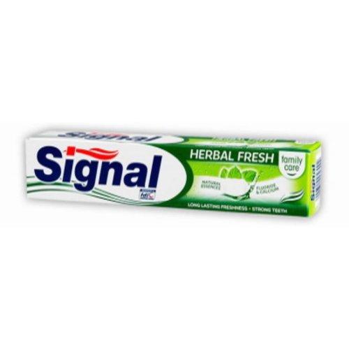 Signal  Signal tandpasta 75ml family care herbal fresh geëtiketteerd
