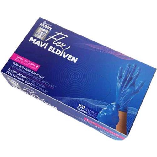 Reflex Plastic Handschoenen Gloves Blauw 100st