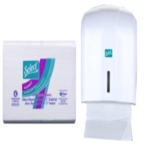 Select Select Vouwhandoekdispenser z-vouw wit (kunststof)