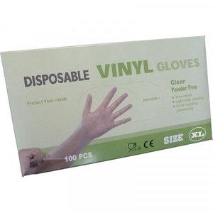 Disposable Vinly Gloves Poedervrij Extra Large Handschoenen Wit 100stuks/doos