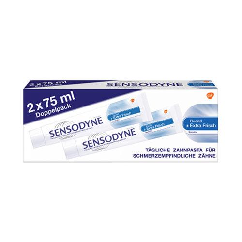 Sensodyne Sensodyne Tandpasta -  Dobbelpack Fluorid Extra Fresh 2x75 ml