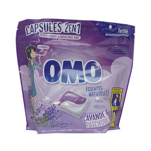 Omo Omo Wasmiddel pods  2 in 1 Lavande & Patchouli 578 gr 24 sc