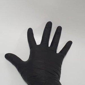Matrix Handschoenen Zwart Nitrile Medium 100 st/doos