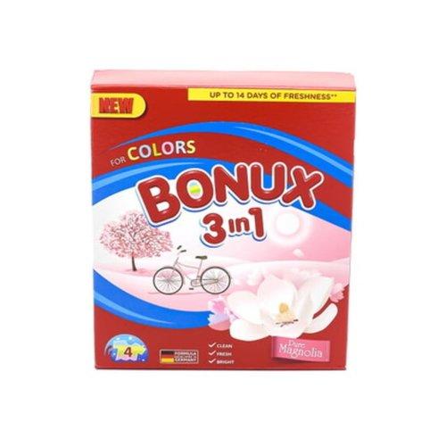 Bonux Bonux  Waspoeder  3 in 1 Whiete Lilac 400gr 4sc