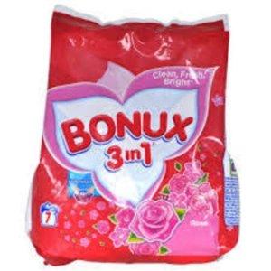 Bonux Bonux  Waspoeder Handwas 3 in 1 Rozen 400gr 7sc
