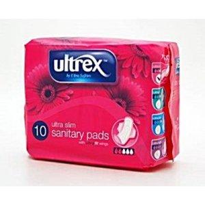 Ultrex, Maandverband, Ultra Slim, met Vleugels 10st