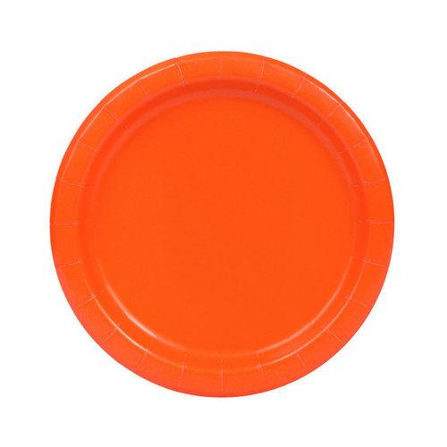 Plastic Borden Oranje  22cm (10st)