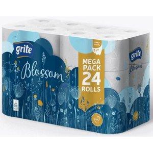 Grite Blossom 24 rollen Toiletpapier Wit 3 laags wc papier 145 vel Extra zacht
