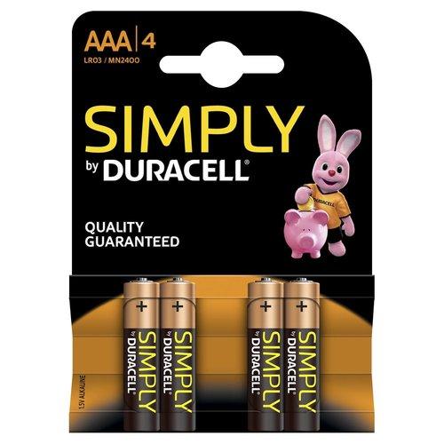 Duracell Duracell Simply - AAA 4 stuks