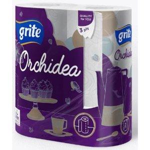 Grite Orchidea 2 rollen Keukenrol Wit 3- laag 77 vel Keukenpapier