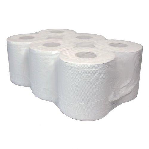 Midirollen HR-150 2- laags Poetserollen  Cellulose Wit handdoekjes(grite)