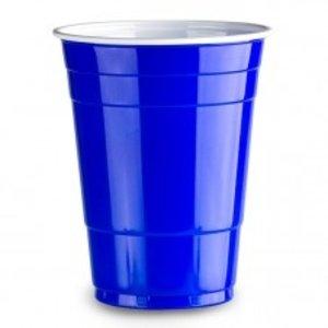 Nupik  Blauw Cup, Partybeker blauw-wit, 500 ml,10 st