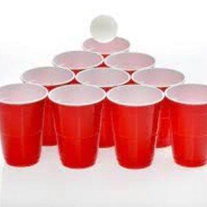 Huhtamaki Huhtamaki Red Cup, Partybeker rood-wit, 400 ml,50 st