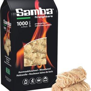 Samba Samba Aanmaakhoutwol, Aanmaakkrullen, Wokkels - 1 Kilo Voordeelverpakking BBQ