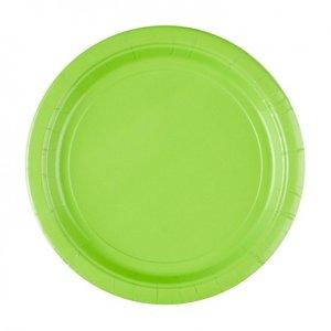 Plastic Borden Groen  22cm (10st)