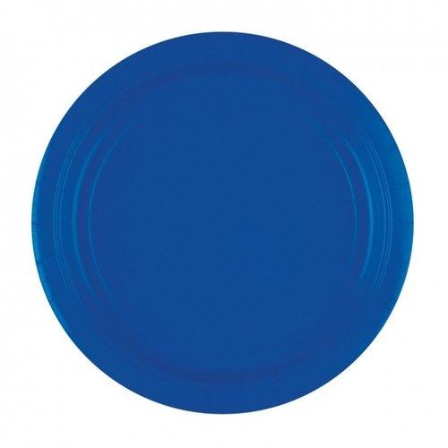 Duni Papieren Borden donkerblauw 22 cm 10 st