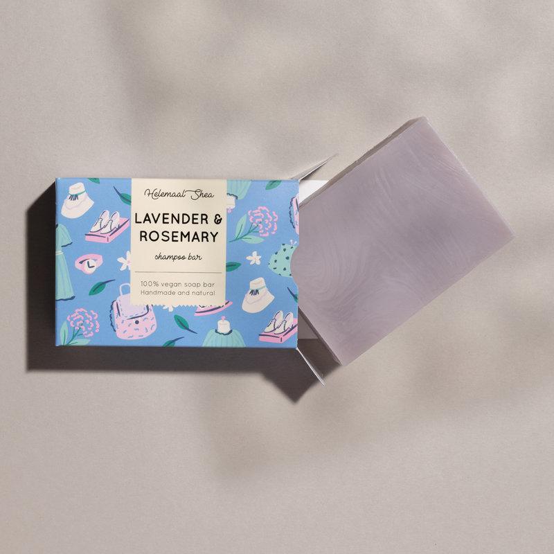 Lavendel & Rozemarijn haarzeep - shampoo bar voor alle haartypen