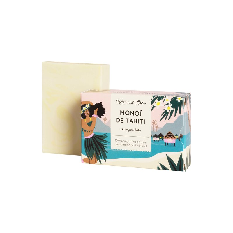 HelemaalShea Monoi de Tahiti shampoo bar