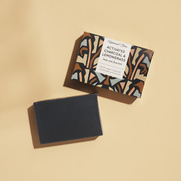 HelemaalShea Activated charcoal & Lemongrass soap