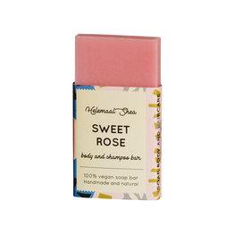 Zoete rozen haar- en body zeep - Mini