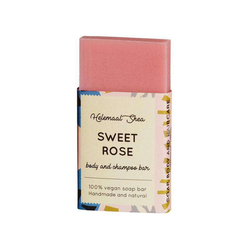 Festes Shampoo und Duschseife - Süßes Rosen - Mini