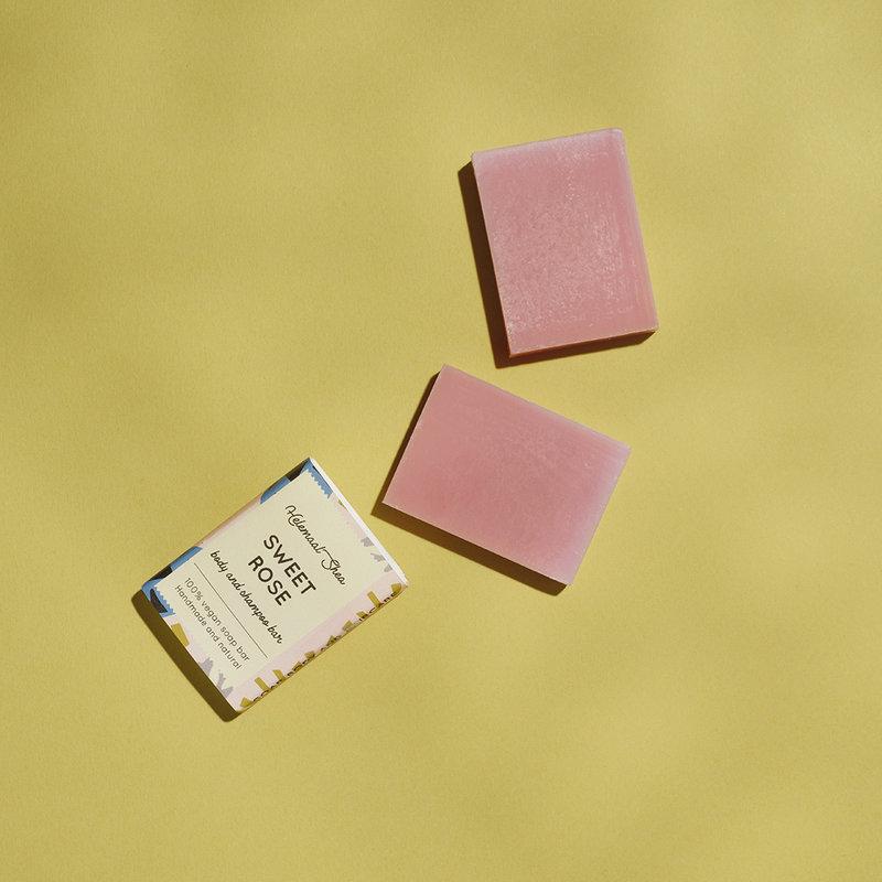 Sweet rose body and shampoo bar - Mini