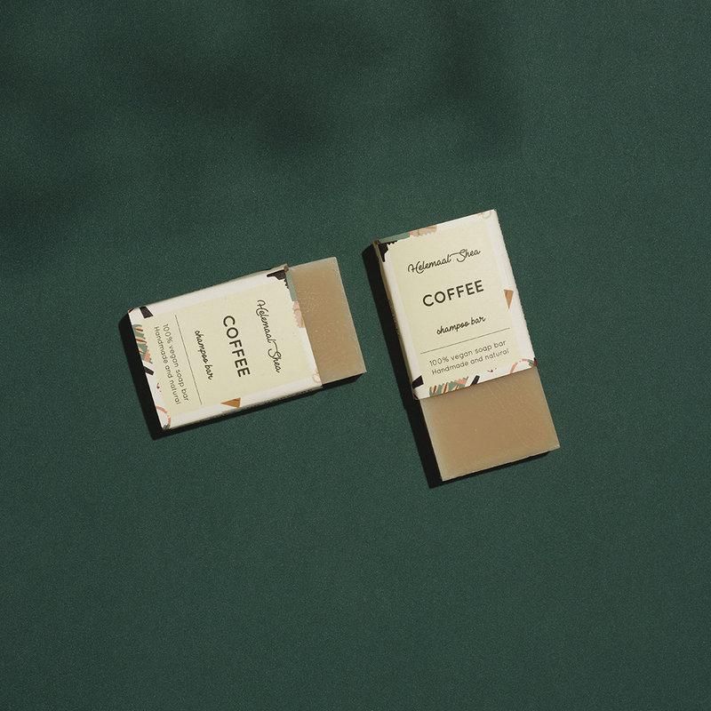 HelemaalShea Coffee shampoo bar - Mini