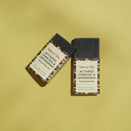 HelemaalShea Actieve kool & Citroengras zeep - Mini
