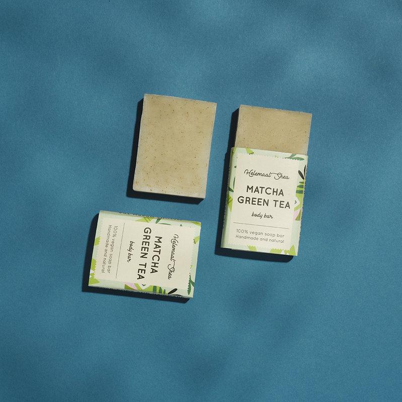 HelemaalShea Matcha Groene Thee zeep - Mini