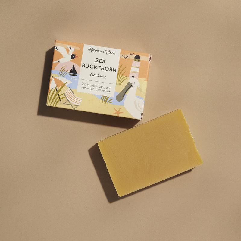HelemaalShea Sea buckthorn facial soap
