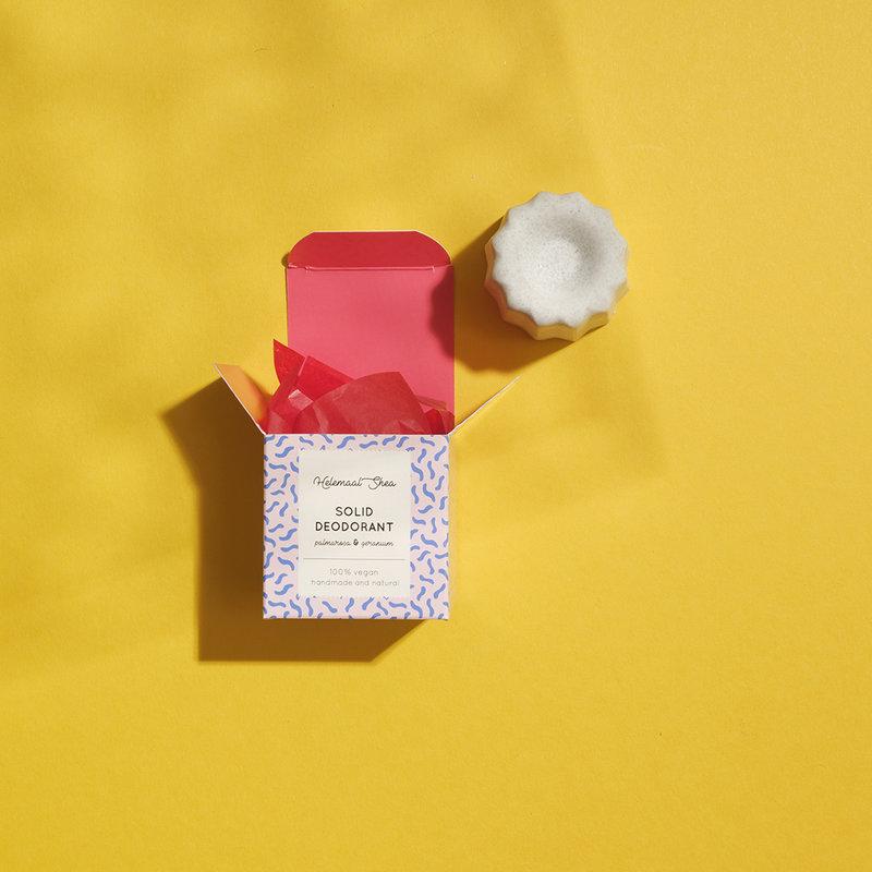Vaste deodorant - Palmarosa & Geranium - nieuw formaat!