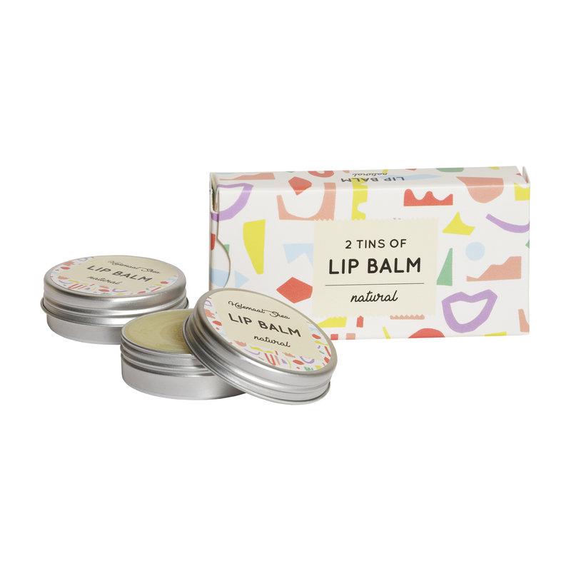 Lipbalm - Natural - no perfume - 2 tins in cardboard box