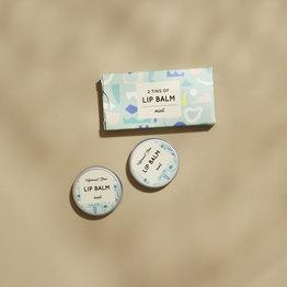 HelemaalShea Lipbalm - Mint - 2 tins