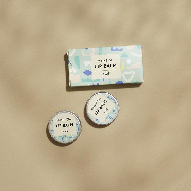 Lipbalm - Mint - 2 tins in cardboard box