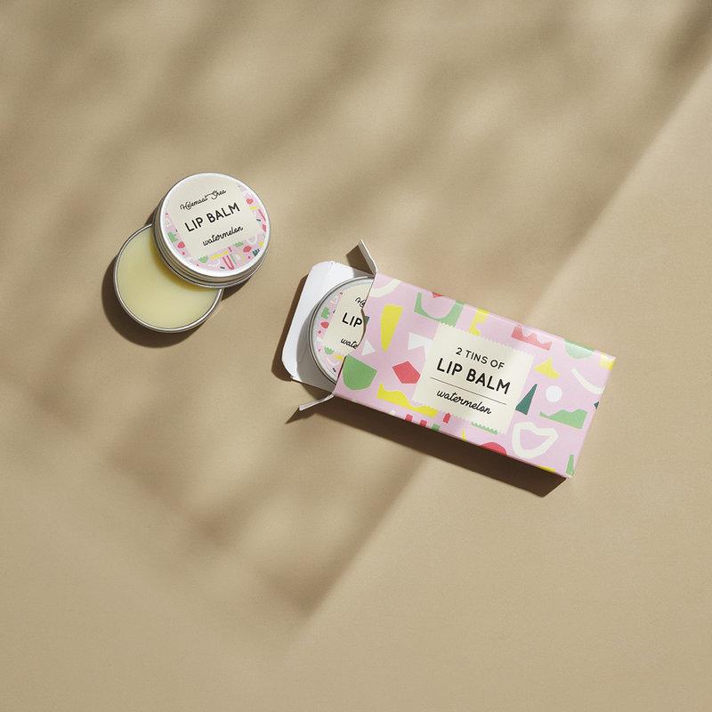 Lippenbalsem - Watermeloen - 2 blikjes in een doosje