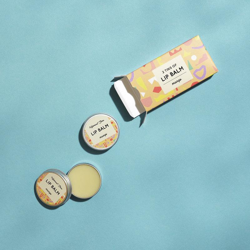 HelemaalShea Lippenbalsem - Mango - 2 blikjes in een doosje