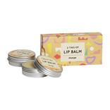 HelemaalShea Lipbalm - Mango - 2 tins in a cardboard box