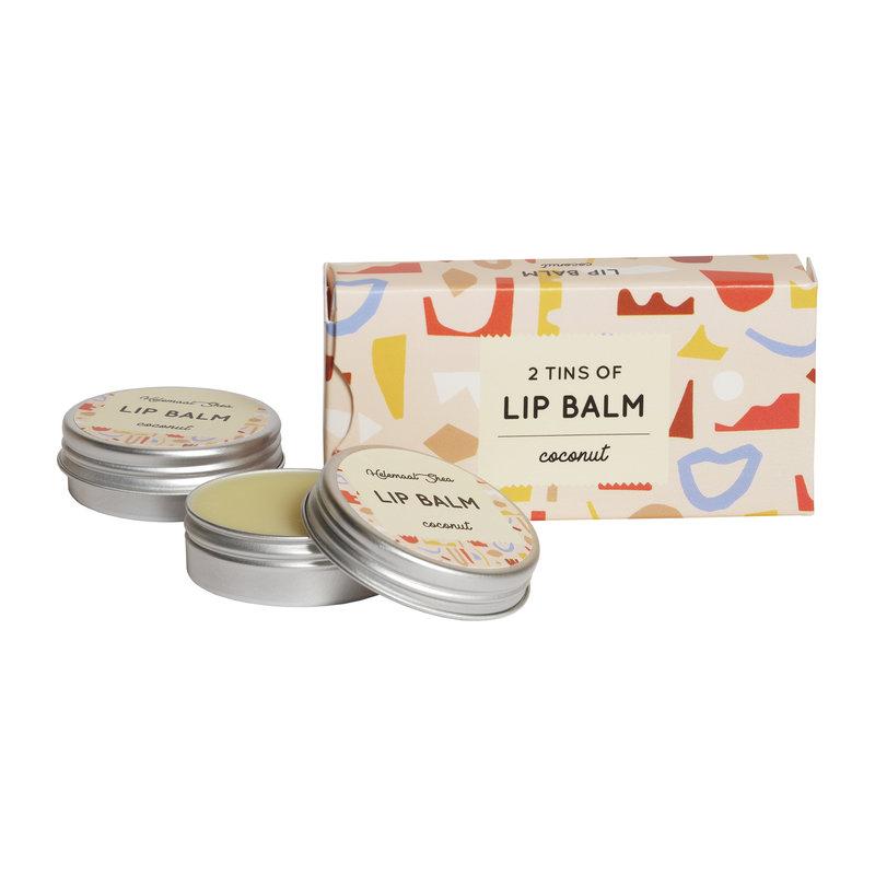 Lipbalm - Coconut - 2 tins in a cardboard box