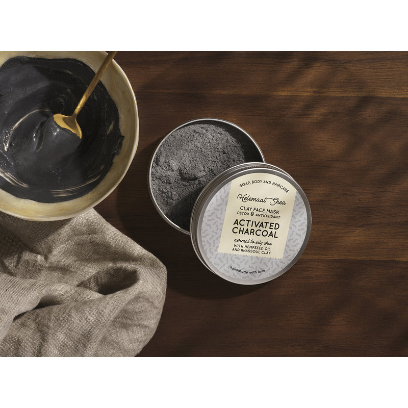 Clay face mask -activated charcoal - Detox & Antioxidant