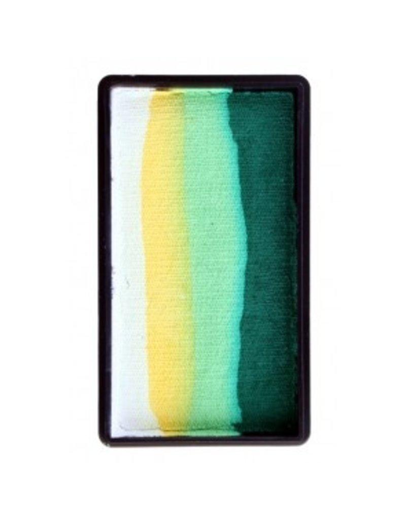 PXP PXP 28 gram splitcake block BWhite | yellow | lime | dark green