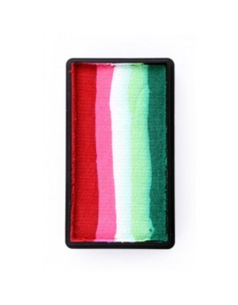 PXP PXP 28 gram splitcake block eRed |  pink | white | lime | green